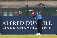 Jason Scrivener (AUS) on the 17th tee during round 4 of the Alfred Dunhill Links Championship at Old Course St. Andrew's, Fife, Scotland. 07/10/2018.<br /> Picture Thos Caffrey / Golffile.ie<br /> <br /> All photo usage must carry mandatory copyright credit (&copy; Golffile | Thos Caffrey)