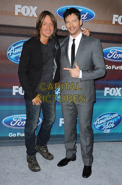 LOS ANGELES, CA - MARCH 11: Keith Urban and Harry Connick Jr. attend Fox's 'American Idol XIV' Finalist Party at The District Restaurant on March 11, 2015 in Los Angeles, California. Credit: PGMP/MediaPunch<br /> CAP/MPI/PGFM<br /> &copy;PGFM/MPI/Capital Pictures