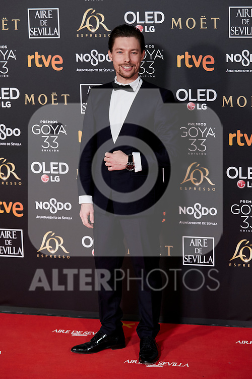 Jan Cornet attends to 33rd Goya Awards at Fibes - Conference and Exhibition  in Seville, Spain. February 02, 2019. (ALTERPHOTOS/A. Perez Meca)