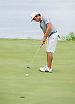 MUSCLE SHOALS, AL - MAY 25: Lynn's Carlos Bustos putts on the 18th green during the Division II Men's Team Match Play Golf Championship held at the Robert Trent Jones Golf Trail at the Shoals, Fighting Joe Course on May 25, 2018 in Muscle Shoals, Alabama. Lynn defeated West Florida 3-2 to win the national title. (Photo by Cliff Williams/NCAA Photos via Getty Images)