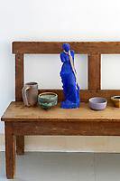 Blue statuette