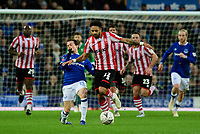 Lincoln City's Bruno Andrade vies for possession with Everton's Bernard<br /> <br /> Photographer Chris Vaughan/CameraSport<br /> <br /> Emirates FA Cup Third Round - Everton v Lincoln City - Saturday 5th January 2019 - Goodison Park - Liverpool<br />  <br /> World Copyright &copy; 2019 CameraSport. All rights reserved. 43 Linden Ave. Countesthorpe. Leicester. England. LE8 5PG - Tel: +44 (0) 116 277 4147 - admin@camerasport.com - www.camerasport.com