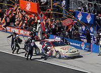 Apr 29, 2007; Talladega, AL, USA; Nascar Nextel Cup Series driver David Reutimann (00) pits during the Aarons 499 at Talladega Superspeedway. Mandatory Credit: Mark J. Rebilas