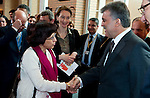 The Hague - The Netherlands, 18 April 2012;.Abdullah GÜL (Guel) (ri), President of Turkey, at the OPCW headquarters; .the visit is to support  disarmament of chemical weapons; .Photo © Horst Wagner / OPCW