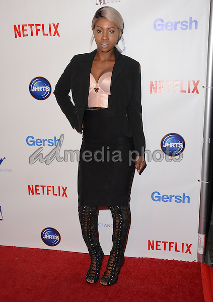 09 December - Beverly Hills, Ca - Faith Stowers. Arrivals for the Junior Hollywood Radio and Television Society's 13th Annual Holiday Party held at Greystone Manor. Photo Credit: Birdie Thompson/AdMedia