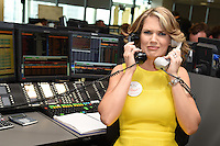 Charlotte Hawkins<br /> on the trading floor for the BGC Charity Day 2016, Canary Wharf, London.<br /> <br /> <br /> &copy;Ash Knotek  D3152  12/09/2016