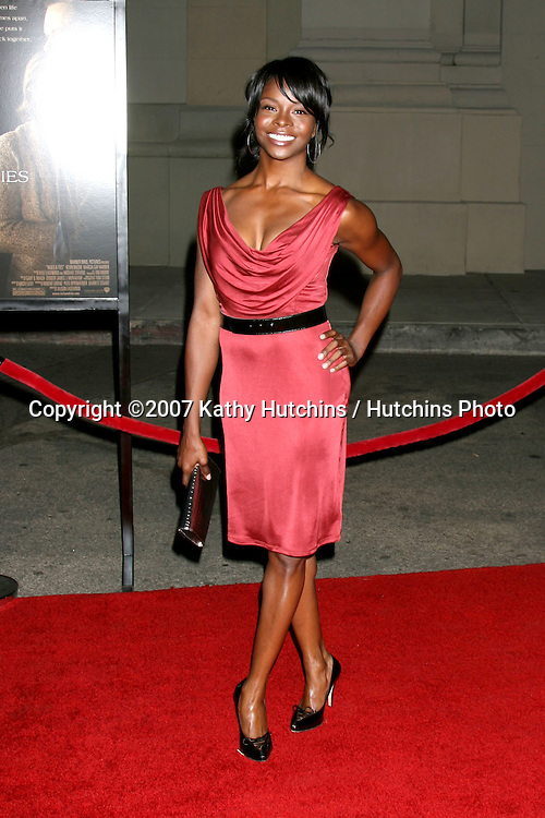 "Telisha Shaw.""Rails & Ties"" Premiere.Stephen J. Ross Theater.Warner Brothers Lot.Burbank,  CA.October 23, 2007.©2007 Kathy Hutchins / Hutchins Photo...               ."