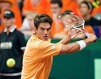 18-9-09, Netherlands,  Maastricht, Tennis, Daviscup Netherlands-France, Jesse Huta Galung
