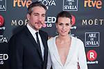 Alberto Aman and Clara Mendez attends red carpet of Goya Cinema Awards 2018 at Madrid Marriott Auditorium in Madrid , Spain. February 03, 2018. (ALTERPHOTOS/Borja B.Hojas)