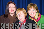 Enjoying the Factory Girls by Knockaderry drama group in St. John's theatre Listowel on Friday night were Kathlee, Margaret and Maureen  Kelly, all from Newcastle West.
