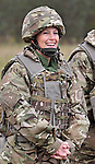 """SOPHIE, COUNTESS OF WESSEX.wearing body amour and helmet watches members of the three Armed Services participate in her military skills competition in Paderborn, Germany.  .The 'Countess of Wessex Cup' is in it third year and was hosted by the 5th Battalion, The Rifles at a small training area on the outskirts of Paderborn, Germany where the unit is based.  The Countess is the Royal Representative for a unit from each the three Armed Services whose eight man teams took part in the physically and mentally demanding tests. .The final test was for the chefs amongst the groups, each team were given the same ingredients and had 40 minutes to produce a meal for the Countess.  .All the result were impressive but the overall competition was won by the host, 5 Rifles_17/10/2012.Mandatory Credit Photo: ©W Calder/NEWSPIX INTERNATIONAL..**ALL FEES PAYABLE TO: """"NEWSPIX INTERNATIONAL""""**..IMMEDIATE CONFIRMATION OF USAGE REQUIRED:.Newspix International, 31 Chinnery Hill, Bishop's Stortford, ENGLAND CM23 3PS.Tel:+441279 324672  ; Fax: +441279656877.Mobile:  07775681153.e-mail: info@newspixinternational.co.uk"""