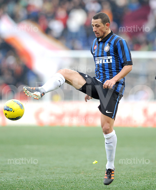 FUSSBALL INTERNATIONAL   SERIE A   SAISON 2011/2012    AS Rom - Inter Mailand  05.01.2012 Angelo Palombo (Inter Mailand)
