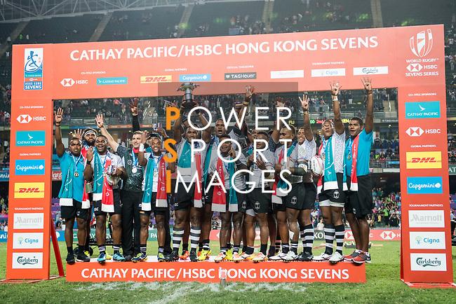 HSBC Hong Kong Rugby Sevens 2018 on 08 April 2017, in Hong Kong, Hong Kong. Photo by Marcio Rodrigo Machado / Power Sport Images
