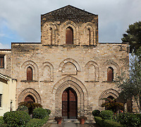"Chiesa della Magione or della Santissima Trinita del Cancelliere (Basilica of the Magione or of the Holy Trinity, usually called ""the Magione""), late 12th century, Kalsa district, Palermo, Sicily, Italy. Picture by Manuel Cohen"