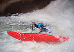 November 5, 2016 - Hendersonville, North Carolina, U.S. -   C-1 paddler, Tad Dennis, powers through the bottom of the Scream Machine rapids during the 21st annual Green Race.The Green River Narrows provides one of the most intense and extreme whitewater venues in the world and is home to many of the USA's most talented paddlers.  Green River Narrows, Hendersonville, North Carolina.