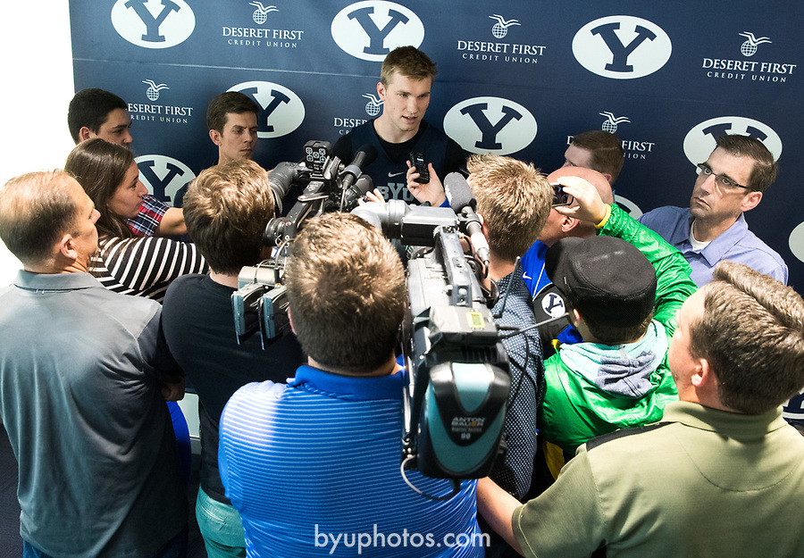 16-17mBKB Eric Mika Press Conf 031<br /> <br /> 16-17mBKB Eric Mika Press Conference<br /> <br /> BYU Basketball's Eric Mika holds a press conference to announce that he will declare for the NBA draft.<br /> <br /> March 22, 2017<br /> <br /> Photo by Jaren Wilkey/BYU<br /> <br /> &copy; BYU PHOTO 2017<br /> All Rights Reserved<br /> photo@byu.edu  (801)422-7322