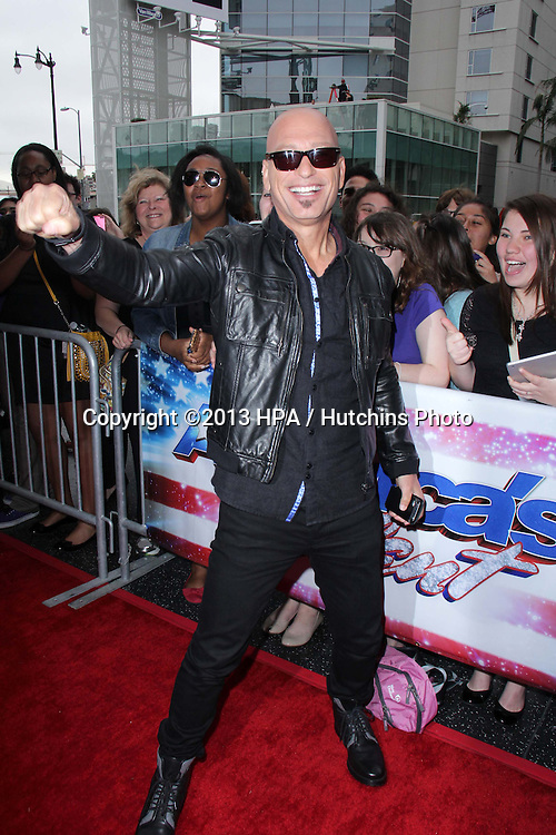 """LOS ANGELES - APR 24:  Howie Mandel arrives at the """"America's Got Talent"""" Los Angeles Auditions at the Pantages Theater on April 24, 2013 in Los Angeles, CA"""