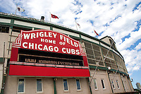 Wrigley Field home of the Chicago Cubs baseball team. Chicago Illinois USA