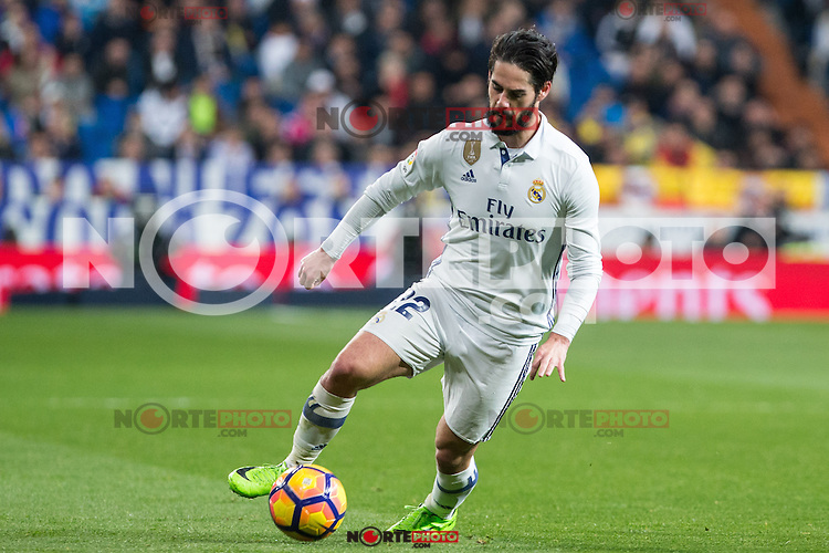 Isco Alarcon of Real Madrid during the match of Spanish La Liga between Real Madrid and UD Las Palmas at  Santiago Bernabeu Stadium in Madrid, Spain. March 01, 2017. (ALTERPHOTOS / Rodrigo Jimenez) /NORTEPHOTOmex