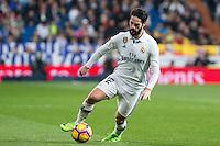 Isco Alarcon of Real Madrid during the match of Spanish La Liga between Real Madrid and UD Las Palmas at  Santiago Bernabeu Stadium in Madrid, Spain. March 01, 2017. (ALTERPHOTOS / Rodrigo Jimenez) /NORTEPHOTOmex