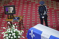 Former Quebec premier Jacques Parizeau lying in state at the National Assembly in Quebec City on Sunday June 7, 2015.<br /> <br /> PHOTO :  Francis Vachon - Agence Quebec Presse