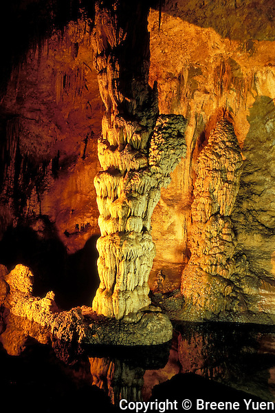Devil's Spring greets visitors near the entrance into Carlsbad Caverns, New Mexico