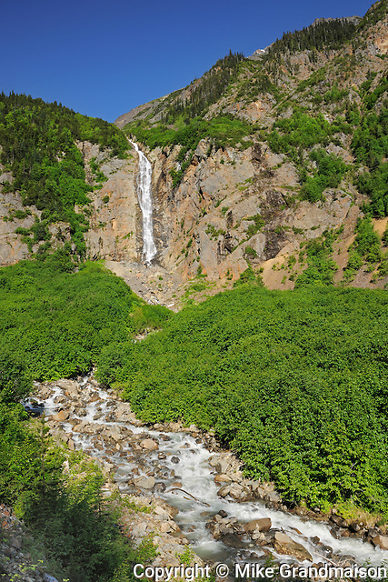 Twin Falls (falls on the right)<br /> Smithers <br /> British Columbia<br /> Canada