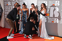 Little Mix at the 2017 Brit Awards at the O2 Arena in London, UK. <br /> 22 February  2017<br /> Picture: Steve Vas/Featureflash/SilverHub 0208 004 5359 sales@silverhubmedia.com