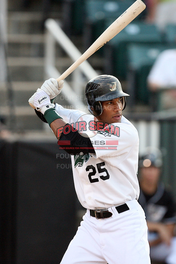 July 2, 2009: West Tennessee Diamond Jaxx outfielder Greg Halman (8) at Pringles Park in Jackson, TN. The Diamond Jaxx are the Southern League AA affiliate of the Atlanta Braves. Photo by: Chris Proctor/Four Seam Images