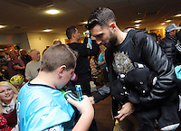 Pictured: Borja Gonzalez Tuesday 06 December 2016<br /> Re: Swansea City FC Christmas Party at the Liberty Stadium, Wales, UK