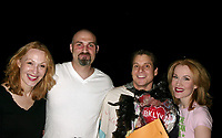 ***Jan Maxwell has passed away at the age of 61 after a long battle with cancer***<br /> ***FILE PHOTO*** Jan Maxwell, Marc Kudisch, Erin Dilly and Alex Sanchez ( Gypsy winner for CHITTY CHITTY BANG BANG )<br /> Attending the Opening Night Gypsy Robe Ceremony for Broadway's New Fantasmagorical Musical, CHITTY CHITTY BANG BANG at the Hilton Theatre in New York City.<br /> April 28, 2005 <br /> CAP/MPI/WAL<br /> &copy;WAL/MPI/Capital Pictures