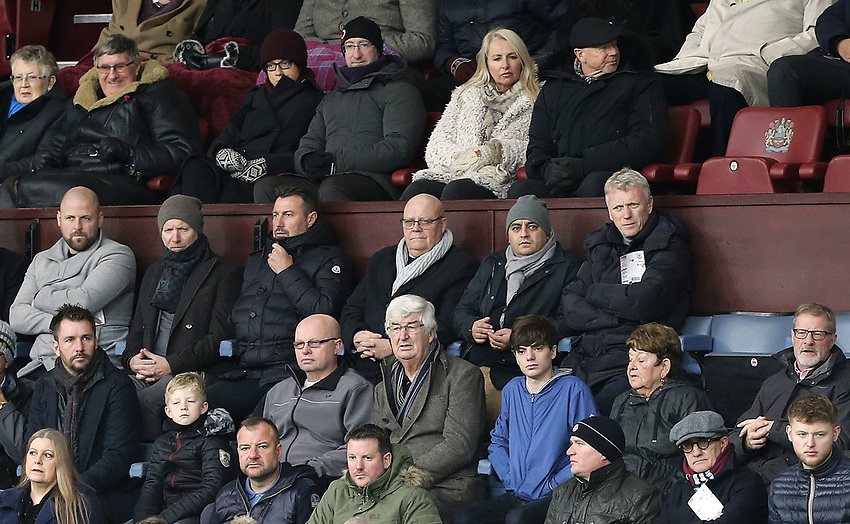 Former Everton, Manchester United and West Ham United manager David Moyes watches the first half action<br /> <br /> Photographer Rich Linley/CameraSport<br /> <br /> The Premier League - Burnley v Brighton and Hove Albion - Saturday 8th December 2018 - Turf Moor - Burnley<br /> <br /> World Copyright © 2018 CameraSport. All rights reserved. 43 Linden Ave. Countesthorpe. Leicester. England. LE8 5PG - Tel: +44 (0) 116 277 4147 - admin@camerasport.com - www.camerasport.com