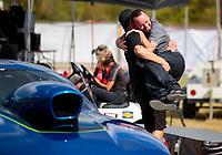 Oct 20, 2019; Ennis, TX, USA; NHRA top sportsman driver Kamron Wright celebrates after winning the Fall Nationals at the Texas Motorplex. Mandatory Credit: Mark J. Rebilas-USA TODAY Sports