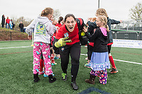Allston, MA - Saturday, May 07, 2016: Chicago Red Stars goalkeeper Michele Dalton (18) before a regular season National Women's Soccer League (NWSL) match at Jordan Field.