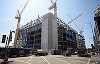 Pictured: The Central Square (Sgwar Canolog) development in Cardiff Thursday 25 May 2017<br />Re: Preparations for the UEFA Champions League final, between Real Madrid and Juventus in Cardiff, Wales, UK.