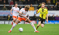 Blackpool's Armand Gnanduillet vies for possession with Burton Albion's Stephen Quinn<br /> <br /> Photographer Chris Vaughan/CameraSport<br /> <br /> The EFL Sky Bet League One - Burton Albion v Blackpool - Saturday 16th March 2019 - Pirelli Stadium - Burton upon Trent<br /> <br /> World Copyright &copy; 2019 CameraSport. All rights reserved. 43 Linden Ave. Countesthorpe. Leicester. England. LE8 5PG - Tel: +44 (0) 116 277 4147 - admin@camerasport.com - www.camerasport.com