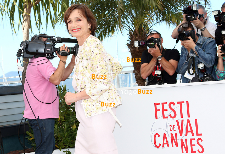 CPE/Actress Kristin Scott Thomas attends the 'Only God Forgives' Photocall during the 66th Annual Cannes Film Festival on May 22, 2013 in Cannes, France.