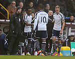 Saido Berahino of West Bromwich Albion comes on for the injured Victor Anichebe of West Bromwich Albion - Barclays Premier League - Burnley vs West Bromwich Albion - Turf Moor Stadium  - Burnley - England - 8th February 2015 - Picture Simon Bellis/Sportimage