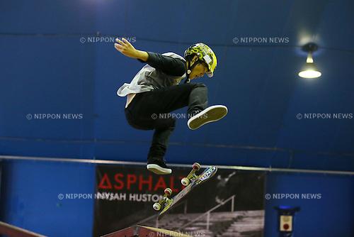 Kaito Sagawa,  OCTOBER 18, 2015 - :  AJSA Japan Pro Tour Skateboard Championships  Murasaki Cup  Men's Park Style Final  at Murasaki Park Tokyo, Tokyo, Japan. (Photo by YUTAKA/AFLO SPORT)