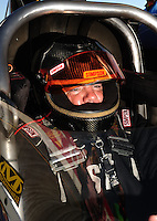 Jul. 17, 2010; Sonoma, CA, USA; NHRA top fuel dragster driver Terry Haddock during qualifying for the Fram Autolite Nationals at Infineon Raceway. Mandatory Credit: Mark J. Rebilas-