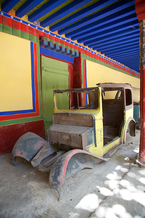 This car (at Norbulingka)was a gift to the Dalai Lama, and was driven by him when he was a teenager.
