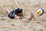 04.01.2019, Den Haag, Sportcampus Zuiderpark<br />Beachvolleyball, FIVB World Tour, 2019 DELA Beach Open<br /><br />Abwehr Clemens Wickler (#2)<br /><br />  Foto &copy; nordphoto / Kurth