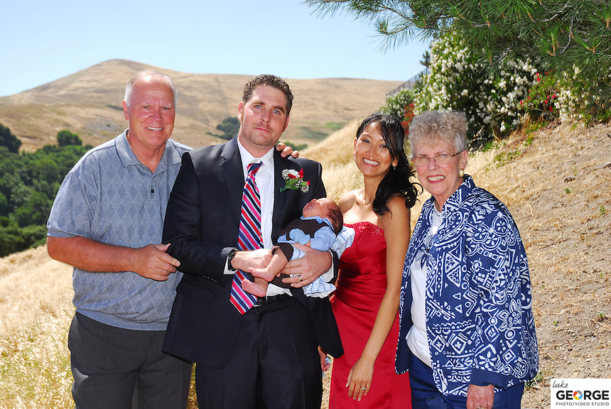 Malinda Albrecht and Aaron Isaacson's union of life and family at Valley Christian Church overlooking hills of Dublin, CA July 9, 2011