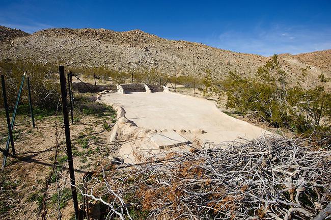 Wildlife Guzzler in the Mojave Desert