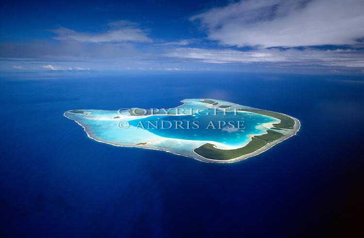 Aerial of Tetiaroa Atoll. Tahiti.