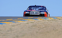 Jun. 21, 2009; Sonoma, CA, USA; NASCAR Sprint Cup Series driver David Stremme crests the hill in turn three during the SaveMart 350 at Infineon Raceway. Mandatory Credit: Mark J. Rebilas-