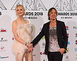 Nicole Kidman, Keith Urban at  the 32nd Annual ARIA Awards 2018 at The Star on November 28, 2018 in Sydney, Australia photo by Rhannon Hopley