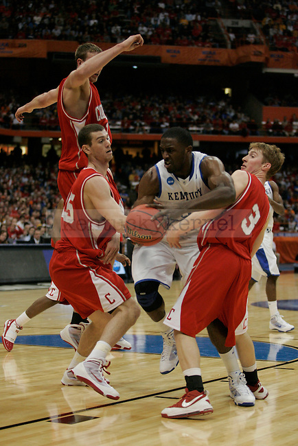 UK's Patrick Patterson battles through Cornell's defense attempting to get to the basket at the Carrier Dome on Thursday, March 25, 2010. Photo by Britney McIntosh | Staff