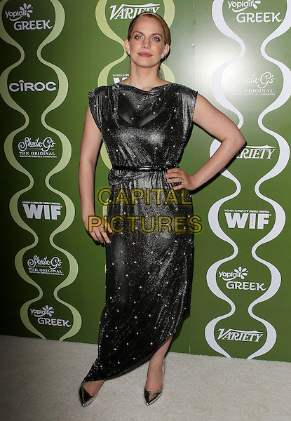 Anna Chlumsky<br /> Variety &amp; Women In Film Pre-Emmy Event presented by Yoplait Greek held at Scarpetta, Beverly Hills, California, USA, <br /> 20th September 2013.<br /> full length black dress sparkly beaded hand on hip <br /> CAP/ADM/KB<br /> &copy;Kevan Brooks/AdMedia/Capital Pictures