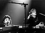 WINGS 1976 Paul McCartney Linda McCartney at Wembley<br /> &copy; Chris Walter